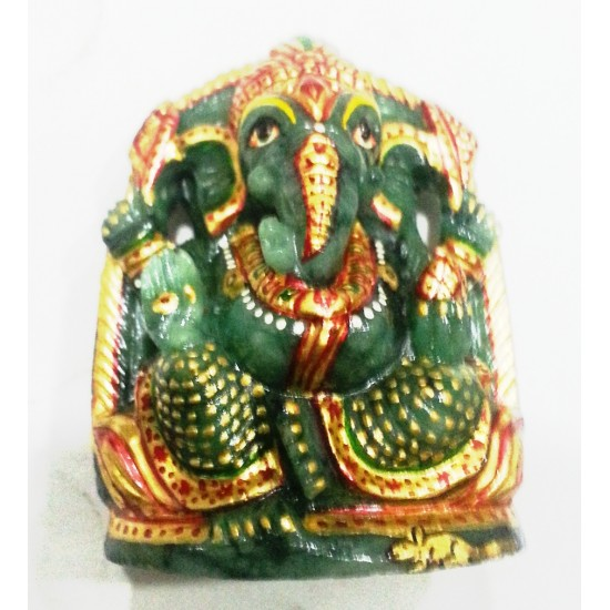 100% natural unheated untreated emerald lord ganesha certified 267 cts