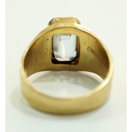 6.49ct certified unheated Ceylon natural white sapphire in 20k gold ring