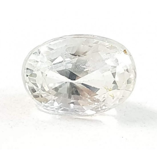 4.85ct Certified Unheated Untreated Ceylon Natural White Sapphire Safed Pukhraj