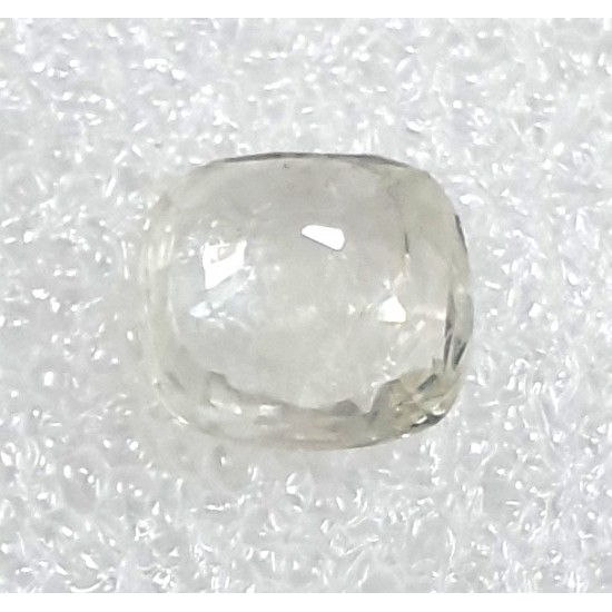 5.20ct Certified Unheated Untreated Ceylon Natural White Sapphire Safed Pukhraj