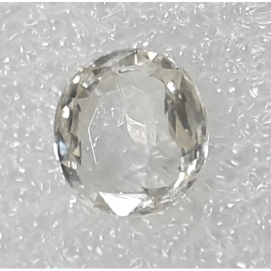 3.85ct Certified Unheated Untreated Ceylon Natural White Sapphire Safed Pukhraj