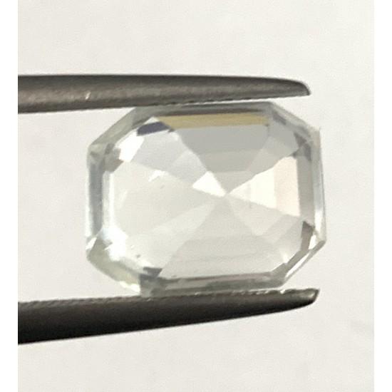 AAA+ 6.80ct certified untreated unheated ceylon natural white sapphire gemstone