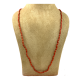 Natural Red Coral 109 Stones Long Beads Necklace Mala 90ct