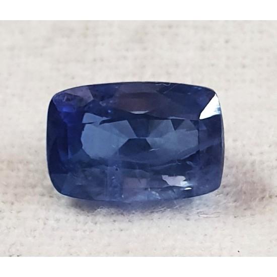 IGI Certified Natural Blue Sapphire 6.31ct Unheated Untreated Ceylon Sapphire