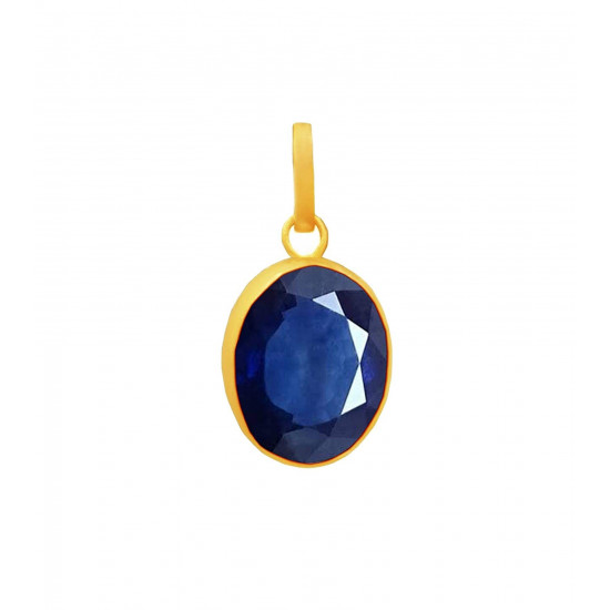 4.40ct Sterling Silver With Certified Blue Sapphire Oval Gemstone Pendant