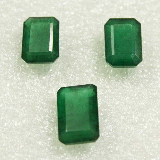 Finest Quality Certified Unheated Untreated Natural Brazil Emerald 3pcs 17.20ct