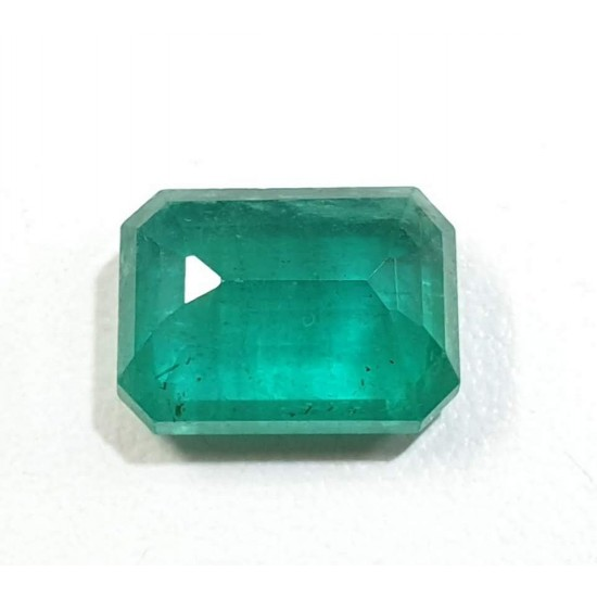 6.05 cts Certified Untreated Natural Zambian Emerald Panna Clean Transparent