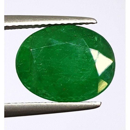 5.50ct Royal Green Natural Brazil Emerald Premium Certified Gemstone 6 ratti