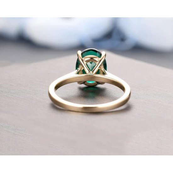 1.15 ct Certified Natural Zambian Emerald 14kt Gold Ring