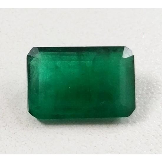 6.92ct Royal Green Natural Zambian Emerald Premium Certified Gemstone 7.25 ratti