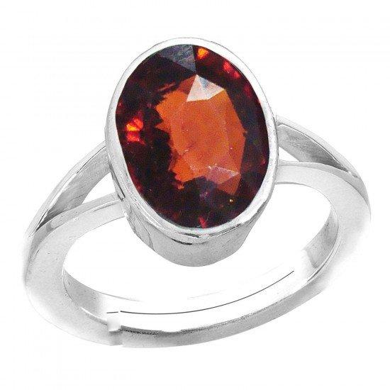 4.40ct 925 Silver Natural  certified garnet ceylon hessonite Gemstone Ring