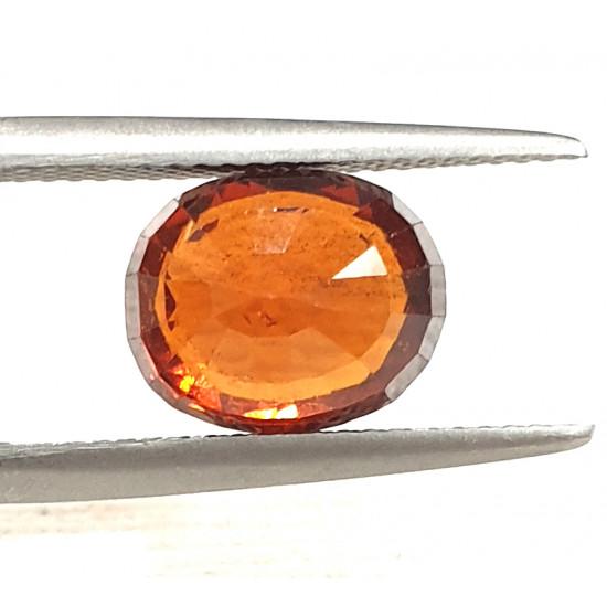 Natural unheated untreated ceylon hessonite garnet gomedh certified 4.68 ct