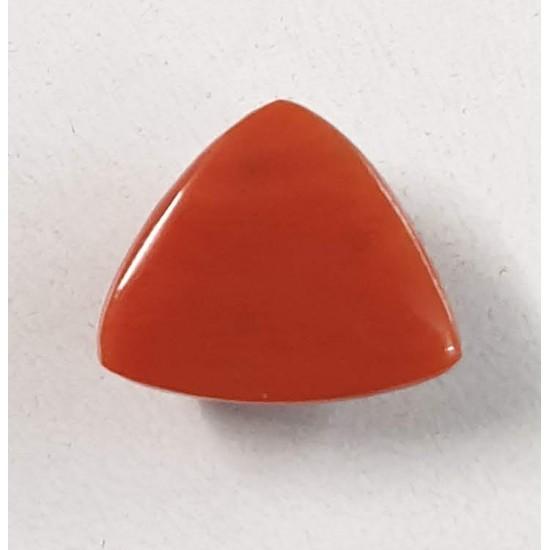 9ct 10 ratti Natural Red Coral Triangle Trillion Certified