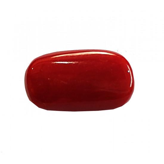 6.95 ct Certified Natural Italian Deep Red Coral Moonga Gemstone