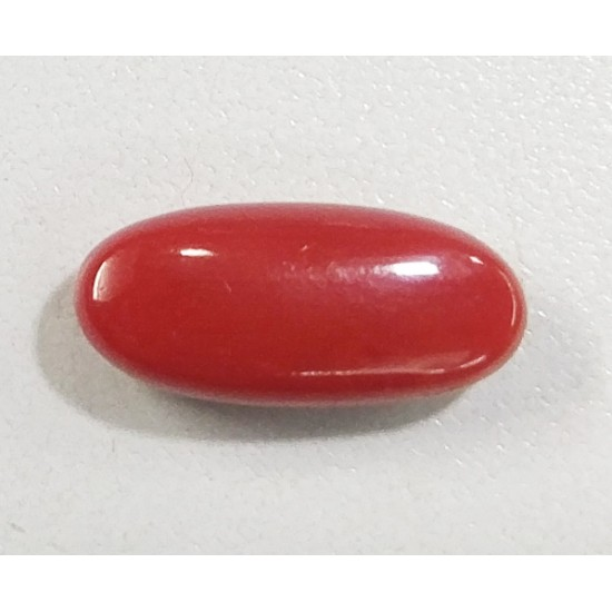 6.20ct Certified Natural Japan Red Coral Moonga Oval Untreated Finest Quality
