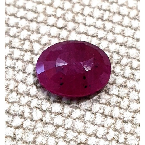3.05 Ct 3.25 Ratti Unheated Natural Certified Ruby Old Mined