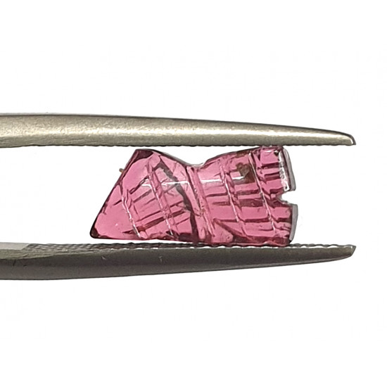 1.80ct Natural Certified Pink Tourmaline Fancy Shape Carving
