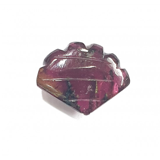 4.30ct Natural Certified Pink Tourmaline Fancy Shape Carving