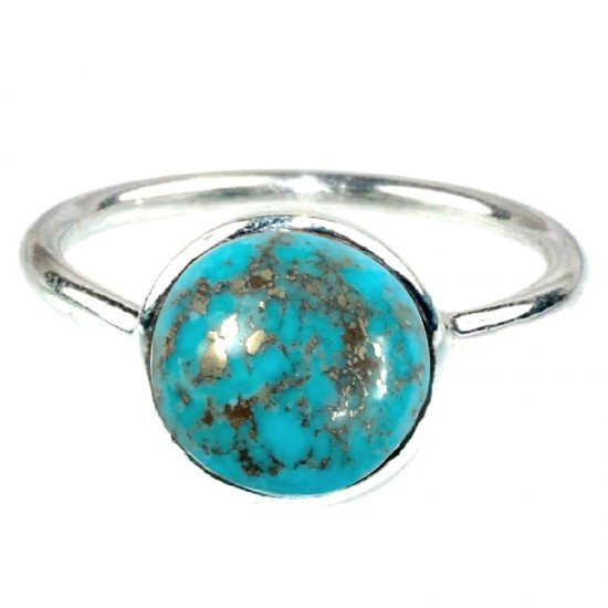 7.0ct 925 Silver Certified Rare Natural Turquoise Firoza Premium Quality Ring