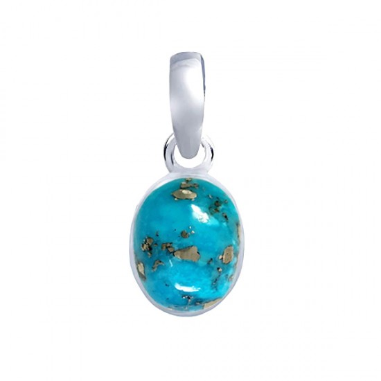 10ct 925 Silver Certified Rare Natural Turquoise Firoza Premium Quality Pendant