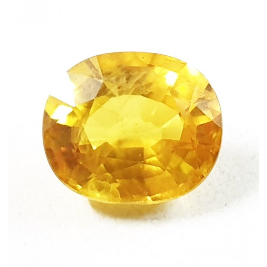 6.30ct 7 ratti Premium Grade vvs1 Clean Certified Natural Yellow Sapphire