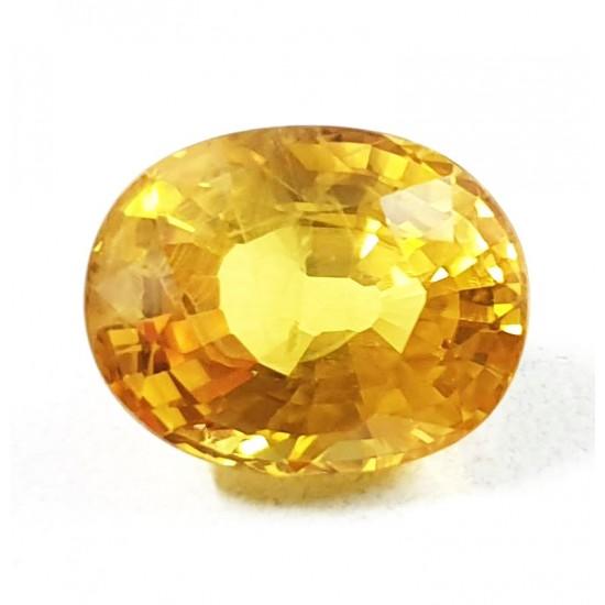 6.55ct 7.25 ratti Premium Grade vvs1 Clean Certified Natural Yellow Sapphire