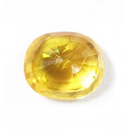 6.68ct 7.25 ratti Premium Grade vvs1 Clean Certified Natural Yellow Sapphire
