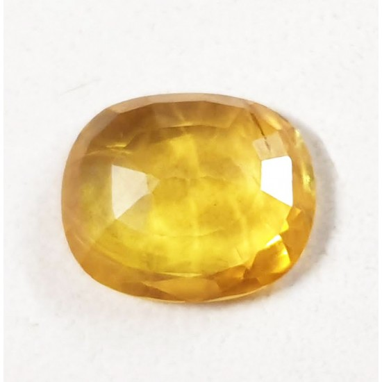 5.60ct 6.25 ratti Certified Natural Yellow Sapphire Pukhraj Transparent Stone