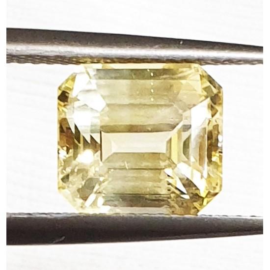 6.05ct IGI Certified Natural Yellow Sapphire Ceylon Unheated Sapphire