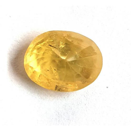 4.14ct Natural Certified Ceylon Yellow Sapphire Pukhraj Oval Loose Gemstone