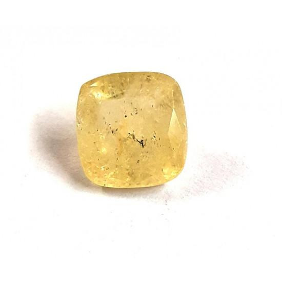 4.91ct Natural Certified Ceylon Yellow Sapphire Pukhraj Loose Gemstone