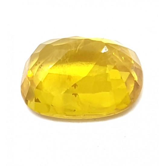3.80 Ct 4.10 Ratti Natural Certified Yellow Sapphire Super Premium Quality