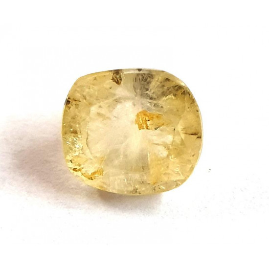 5.86ct Natural Certified Ceylon Yellow Sapphire Pukhraj Loose Gemstone