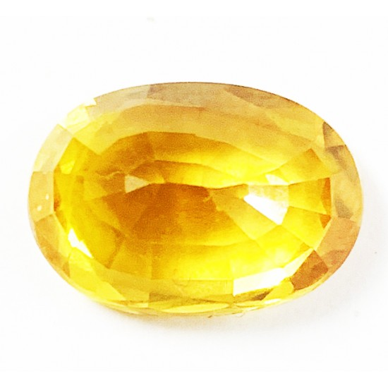 Premium 8.35ct Eye Clean Flawless Certified Natural Yellow Sapphire Pukhraj Ston
